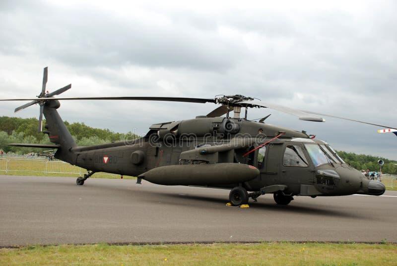 美国UH-60黑色鹰 库存图片