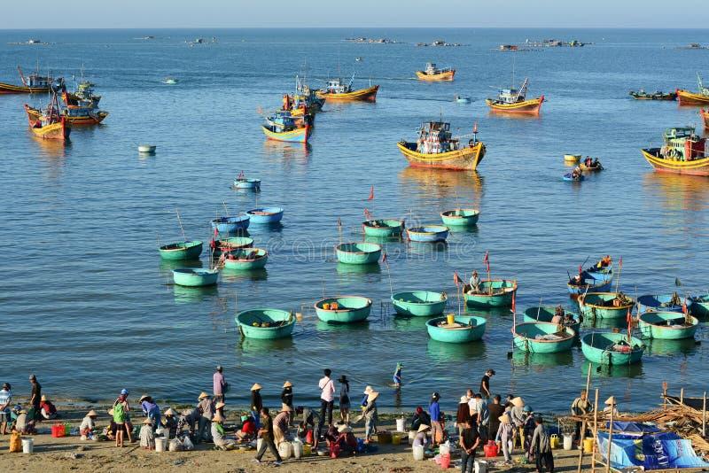 美奈海湾风景在越南南部 免版税库存照片