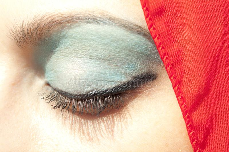 美女的眼睛特写镜头画象  库存图片