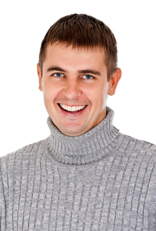 美好人纵向微笑 免版税库存照片