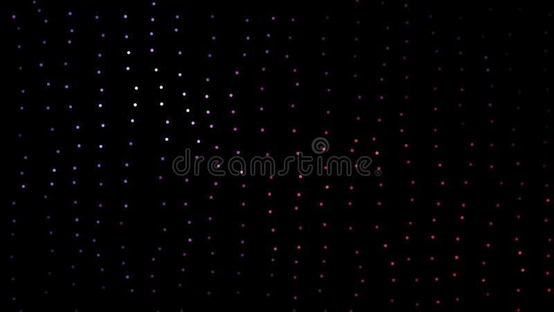 美好和五颜六色的被弄脏的迷路者与移动通过空间的小小点微粒结合了 色的小点移动 向量例证