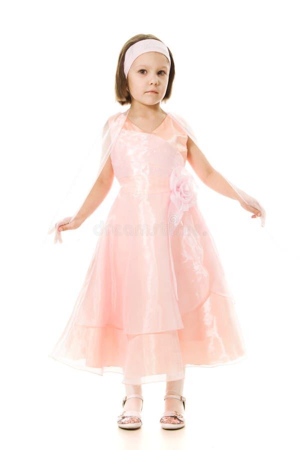 美好女孩公主微笑 免版税图库摄影