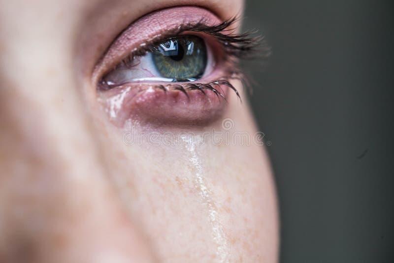 美好女孩哭泣 库存照片