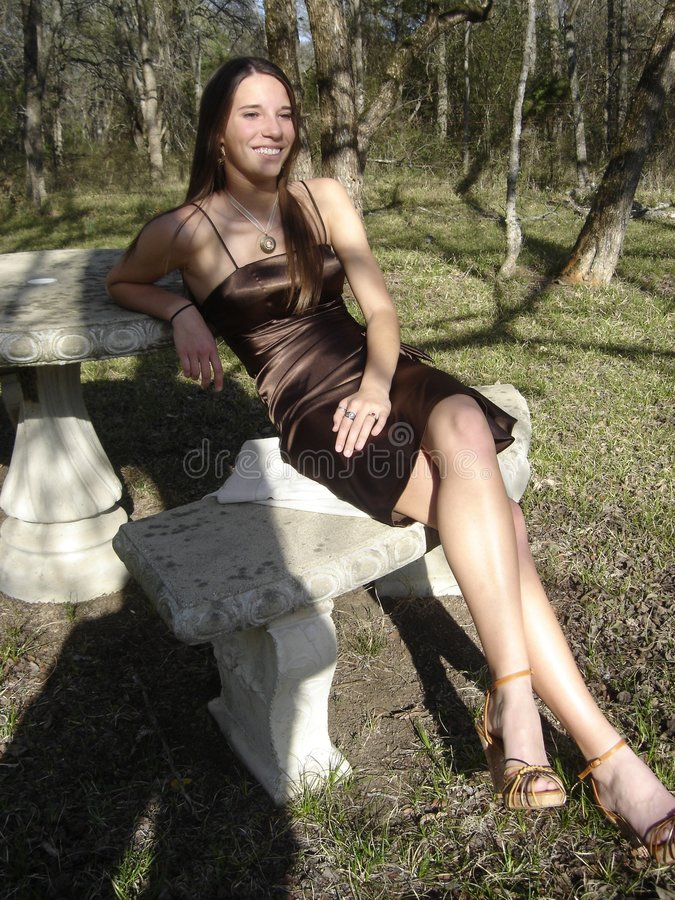 美好女孩微笑 免版税库存图片