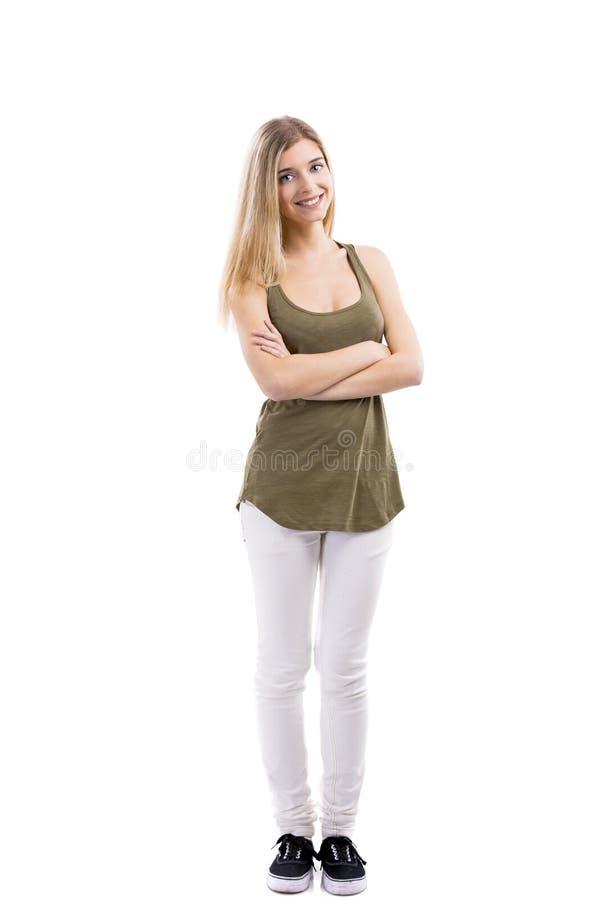 美好妇女微笑 免版税库存照片