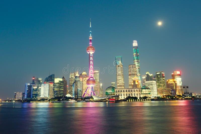 美好的上海市夜 库存图片
