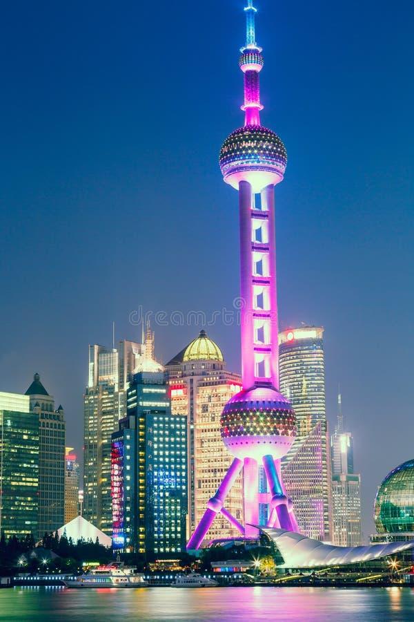 美好的上海市夜 免版税图库摄影