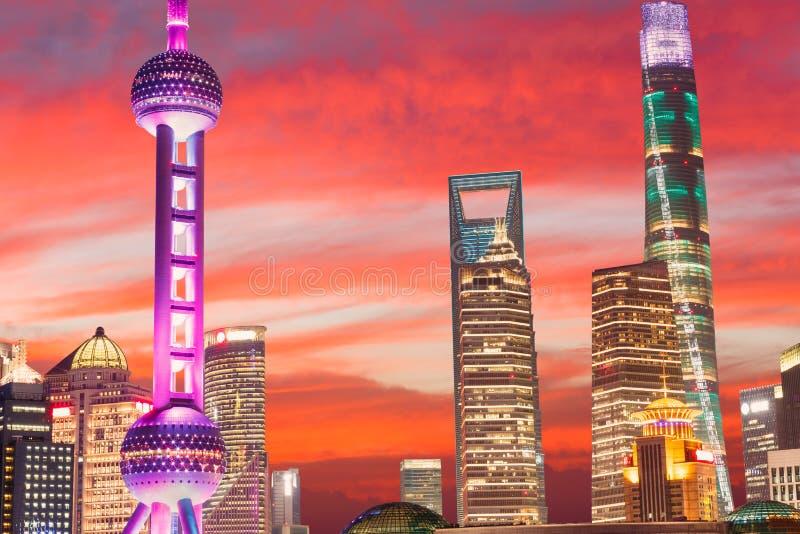 美好的上海市夜 图库摄影