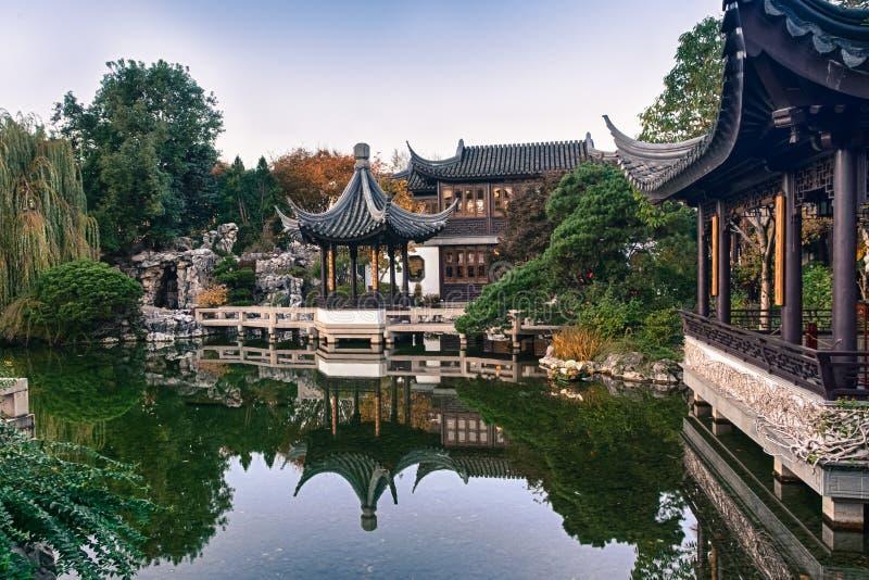 美好的中国庭院Lan Su 免版税库存图片