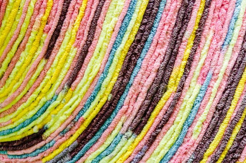 美好的五颜六色的地毯样式背景和纹理 免版税库存图片