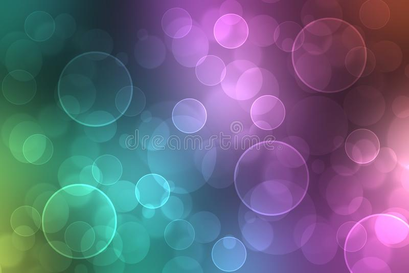 美好的五颜六色的摘要淡色色的软的背景 梯度从紫色到蓝色 好的例证 向量例证