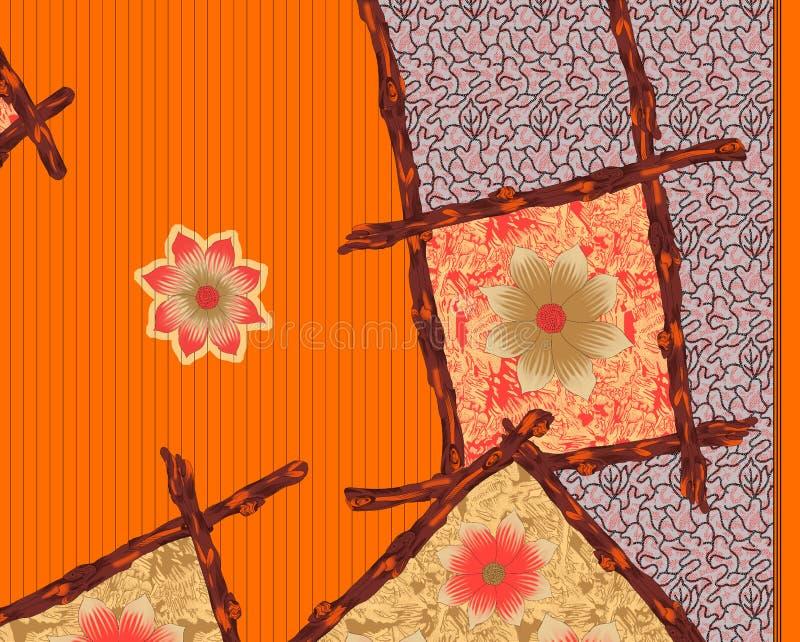 美好的五颜六色的纺织品印刷品设计 向量例证