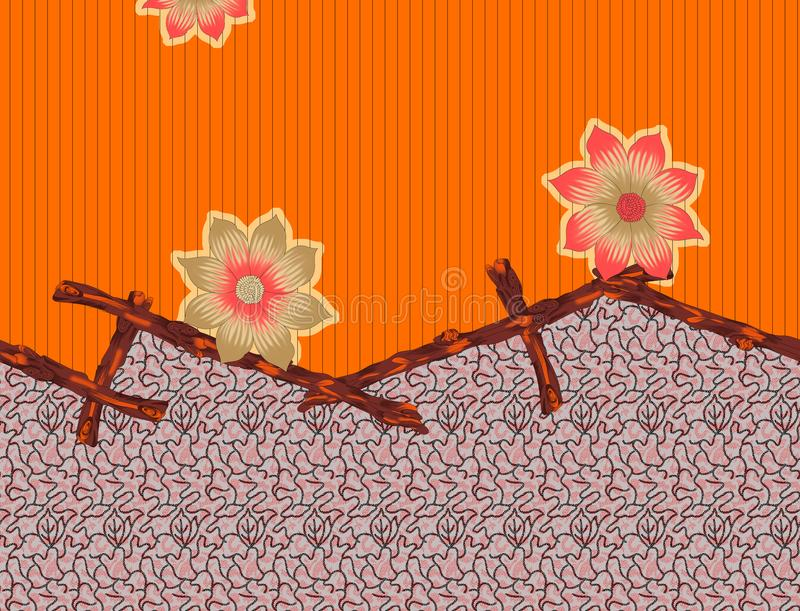 美好的五颜六色的纺织品印刷品设计 皇族释放例证