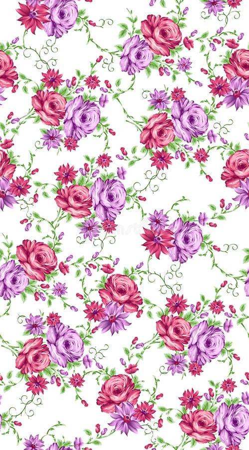 美好的五颜六色的花设计 库存例证