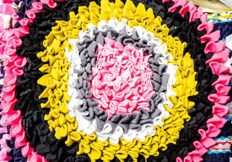 美好的五颜六色的doomat样式背景和纹理 库存照片