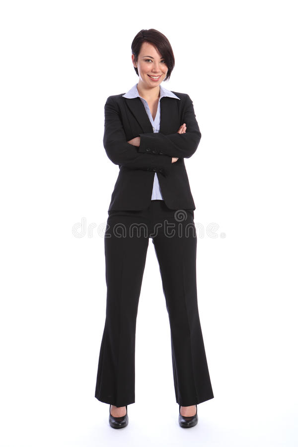 美好的企业微笑的诉讼妇女年轻人 库存图片