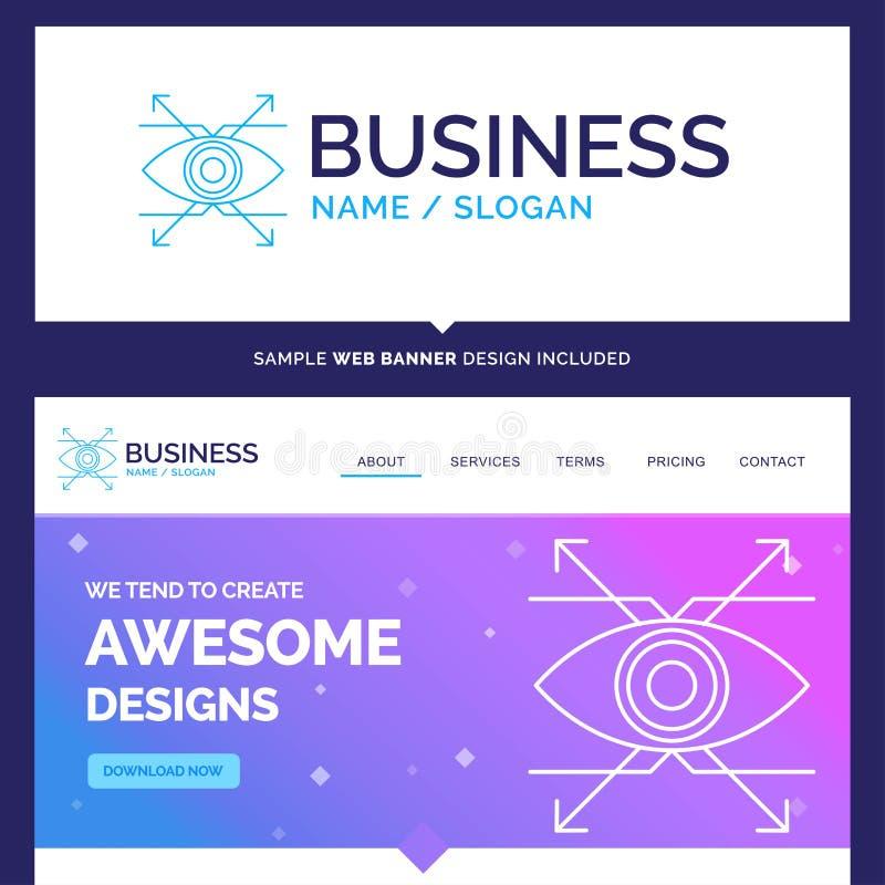 美好的企业概念名牌事务,眼睛,神色,visio 库存例证