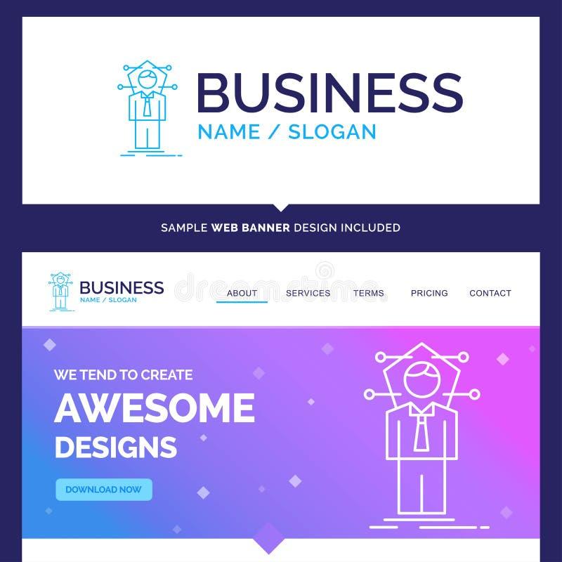 美好的企业概念名牌事务,连接,huma 向量例证