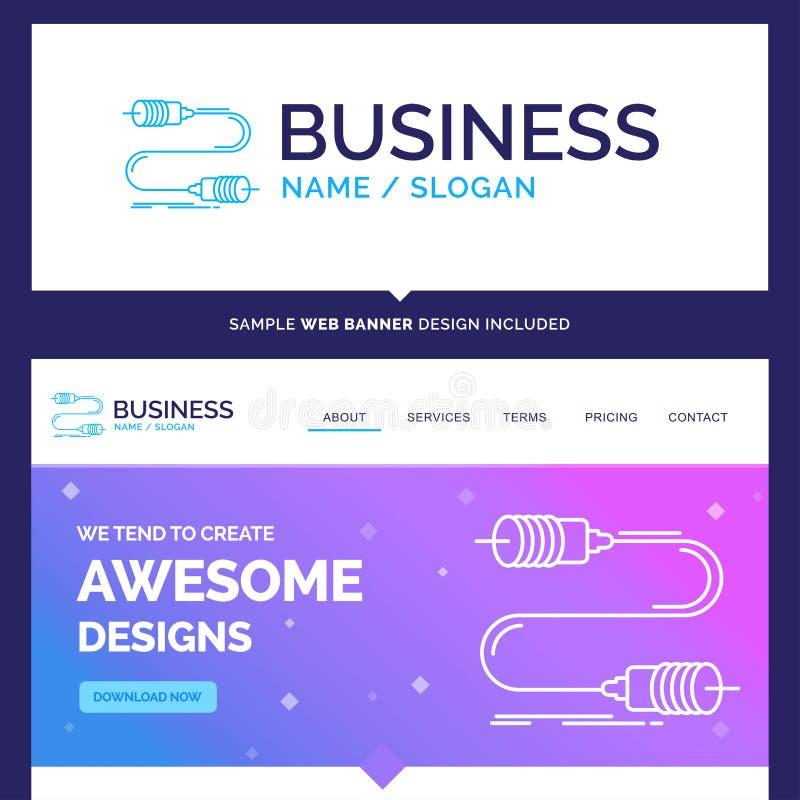 美好的企业概念名牌蜂声,通信,相互 库存例证