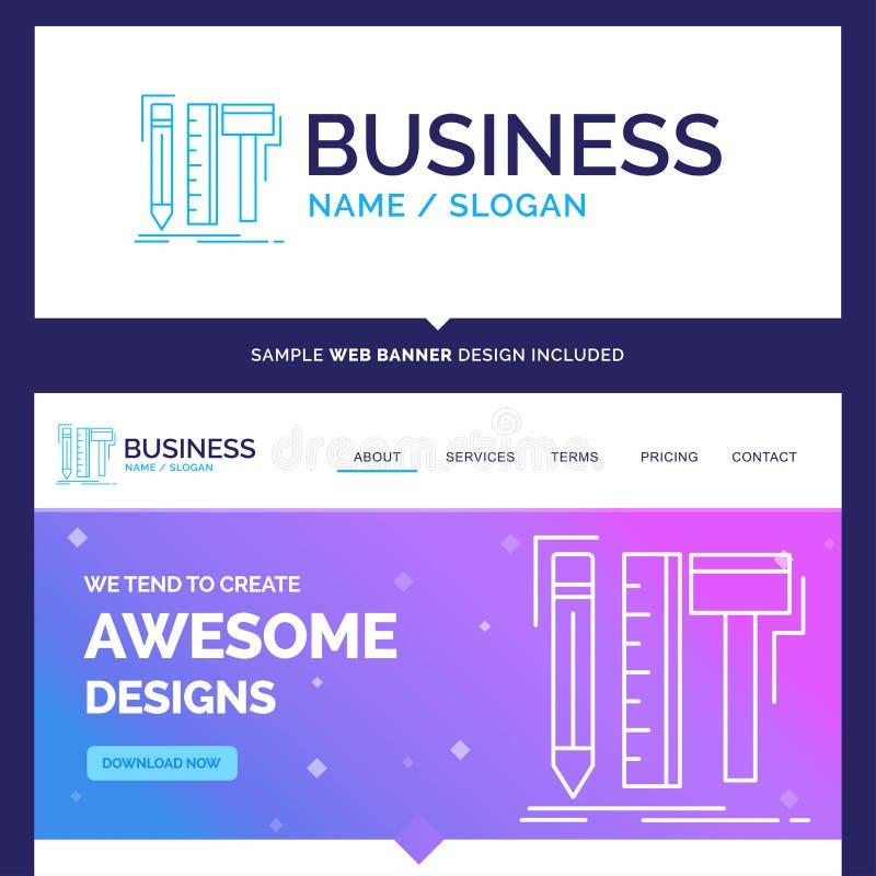 美好的企业概念名牌设计,设计师,数字 皇族释放例证