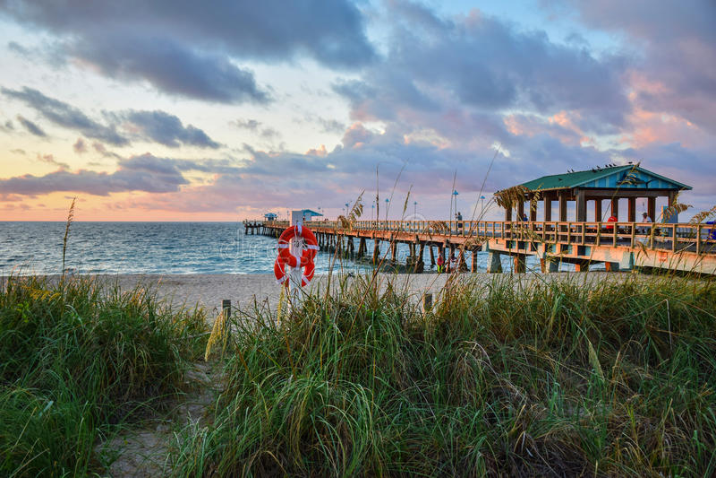美好的佛罗里达日出 免版税库存照片
