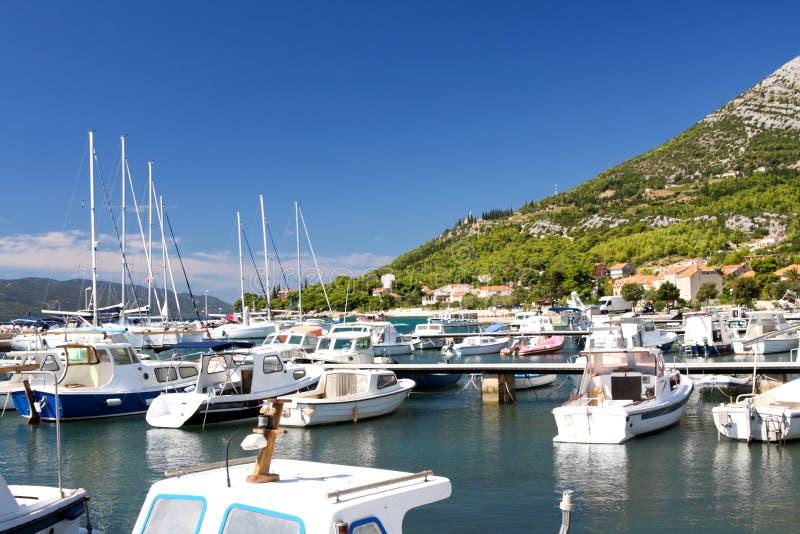 美好的克罗地亚海景 免版税库存图片