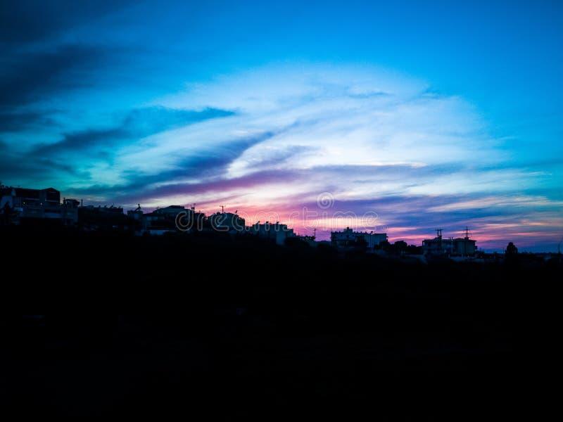 美好的克里特岛日落 库存图片