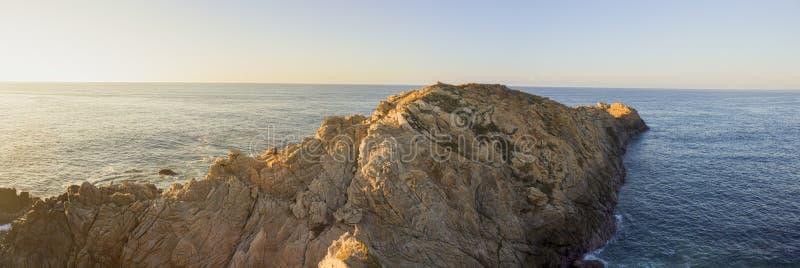 美好的全景,海滩,彗星点瓦哈卡墨西哥 库存图片