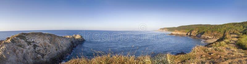 美好的全景,海滩,彗星点瓦哈卡墨西哥 免版税库存照片
