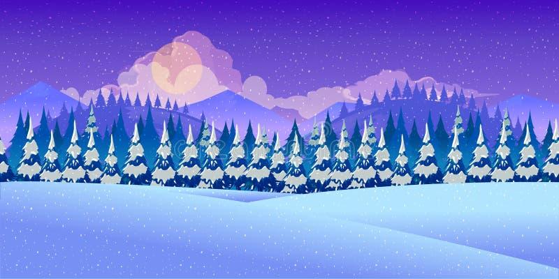 美好的冬天landscape.3d图象 向量例证