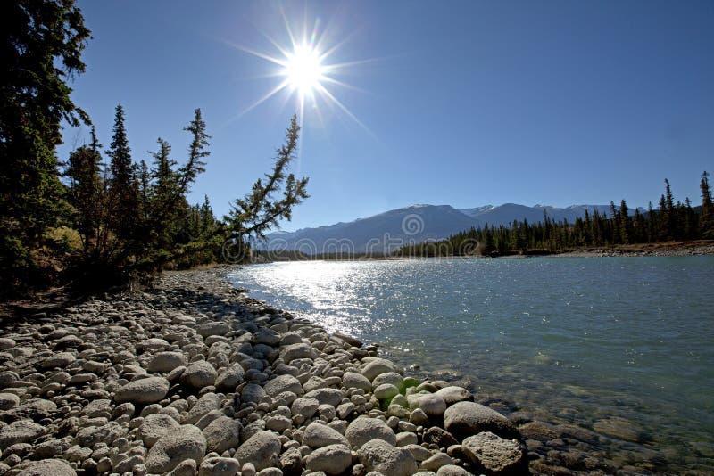 美好的加拿大山场面 图库摄影