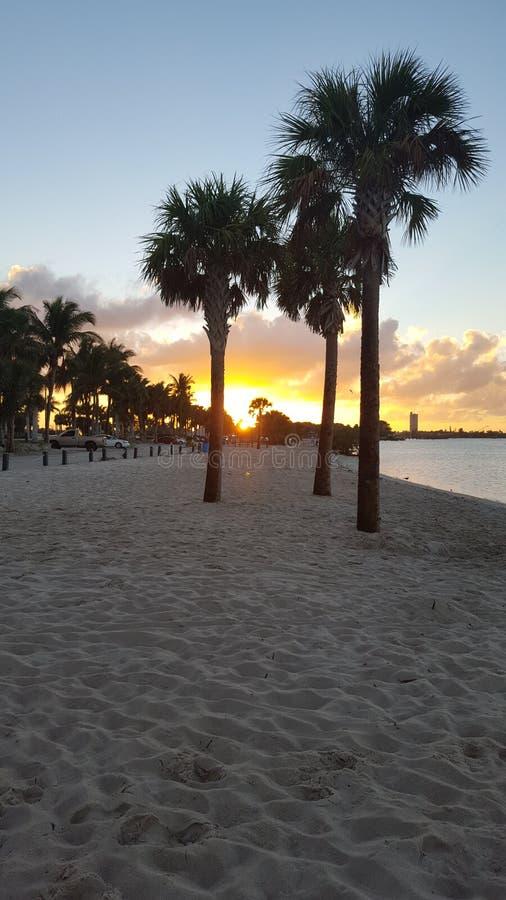 美好的口岸圣露西日落在佛罗里达 库存照片