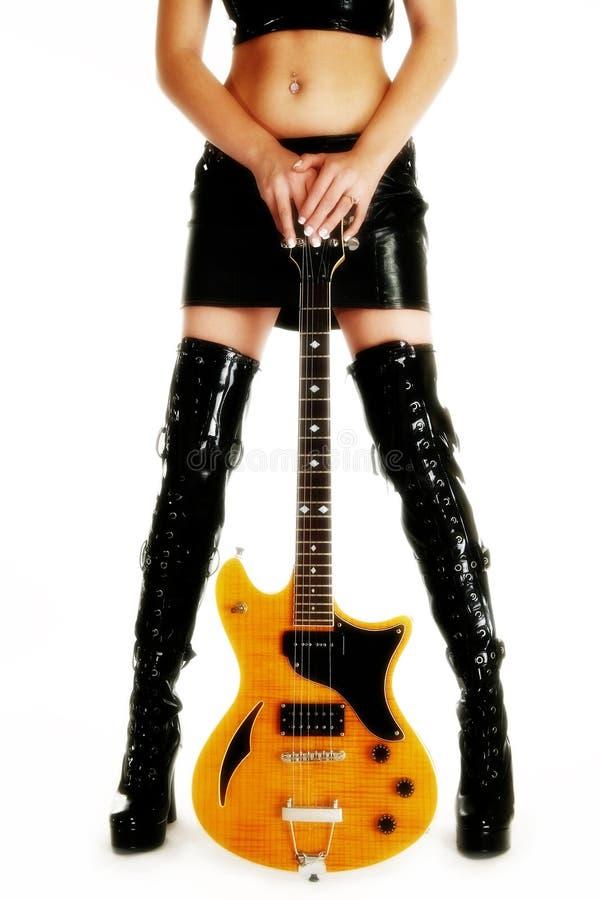美好的吉他行程 免版税图库摄影