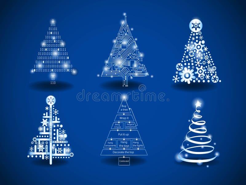 美好的圣诞节例证结构树向量 皇族释放例证
