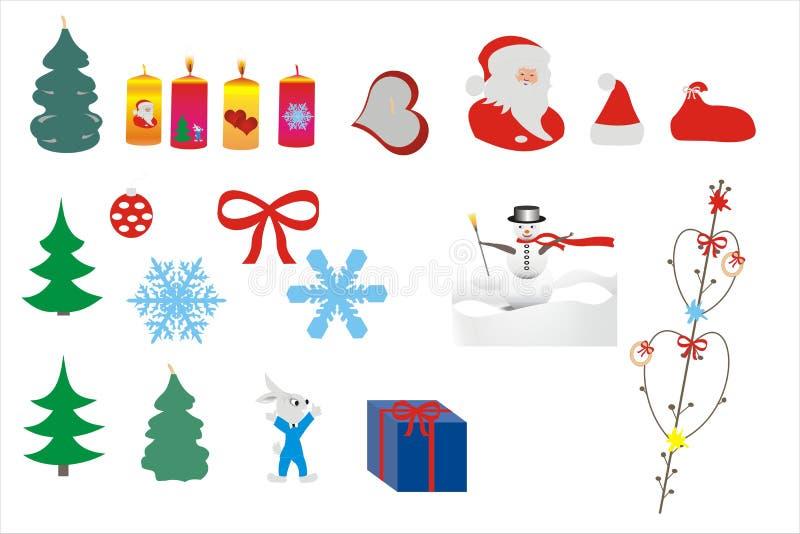 美好的圣诞节和新年的背景 免版税库存照片