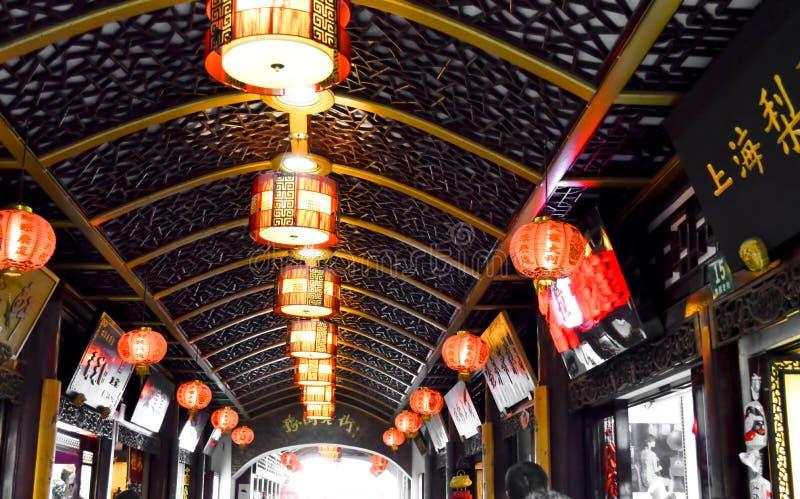 美好的地方中国岗位灯节日 免版税库存图片