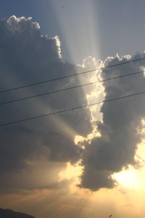 美好的场面在北阿坎德邦省的Mukteshwar在印度 库存图片
