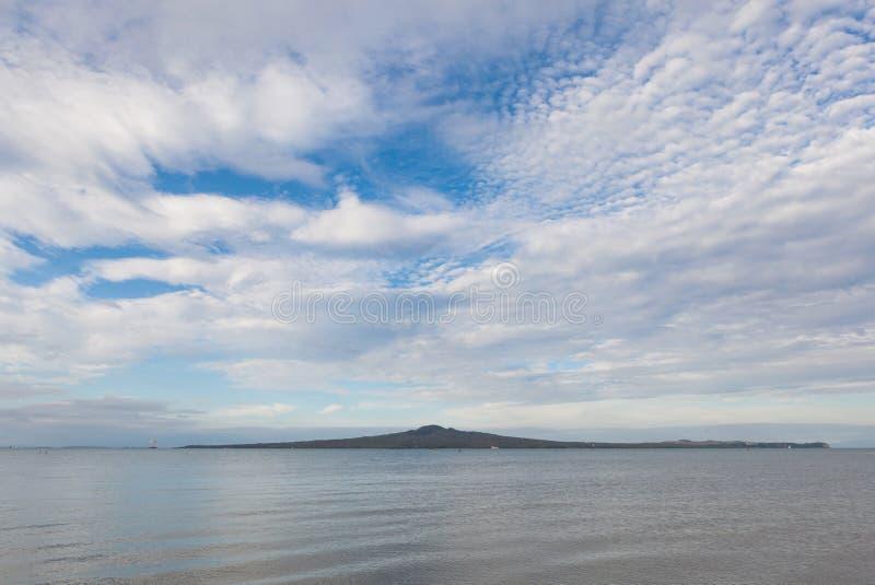 美好的场面朗伊托托岛,奥克兰,新西兰 库存图片