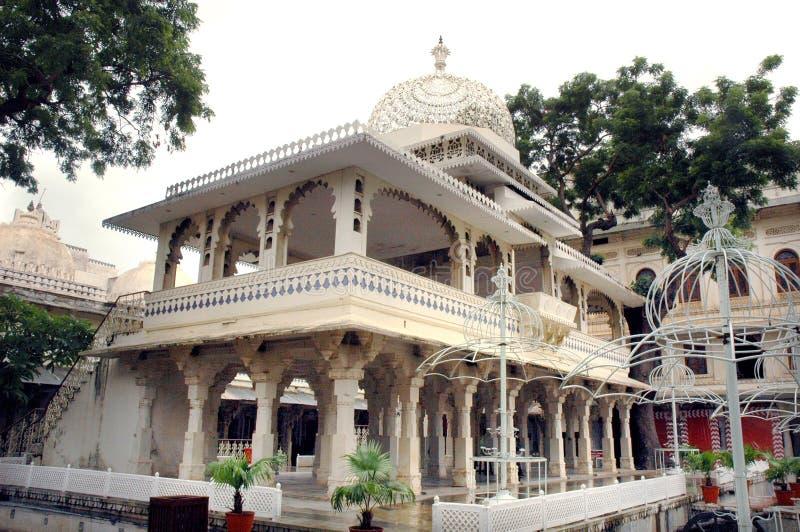 美好的城市宫殿udaipur视图 库存图片