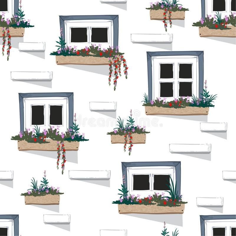 美好的墙壁机智假期心情无缝的样式背景  向量例证