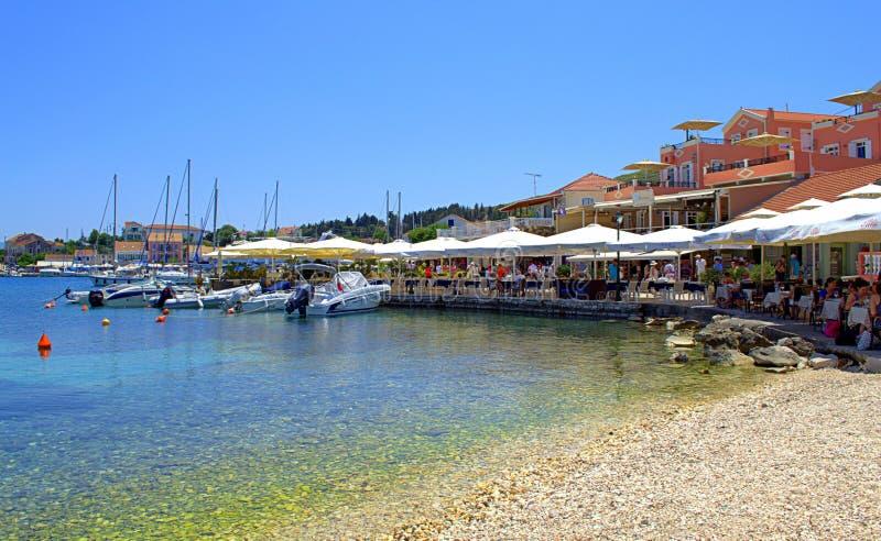 美好的夏天口岸视图,希腊 免版税库存照片