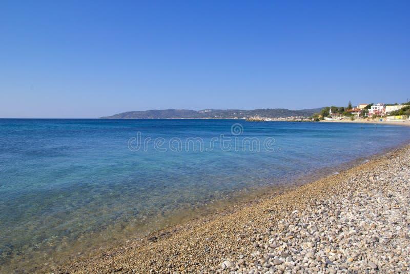 美好的夏天场面在希俄斯海岛 库存照片