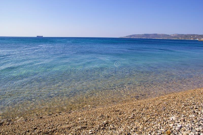 美好的夏天场面在希俄斯海岛 免版税库存照片