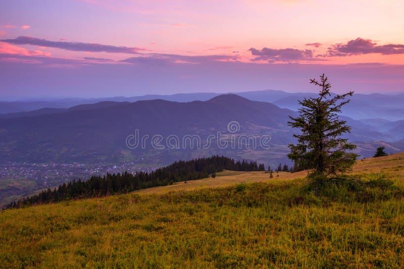 美好的夏天风景,欧洲山,欧洲旅行,秀丽世界 免版税库存照片