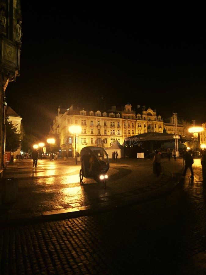 美好的夜在布拉格 免版税库存图片