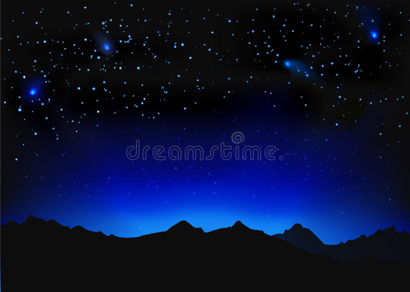 美好的夜空间风景 皇族释放例证