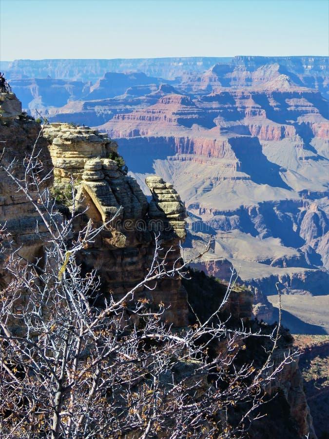 美好的大峡谷远景 免版税库存照片