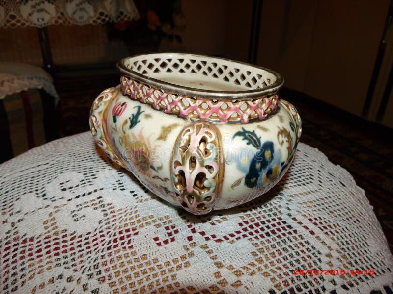 美好的天艺术性的成就古董ceramicsfamily记忆支持 库存照片
