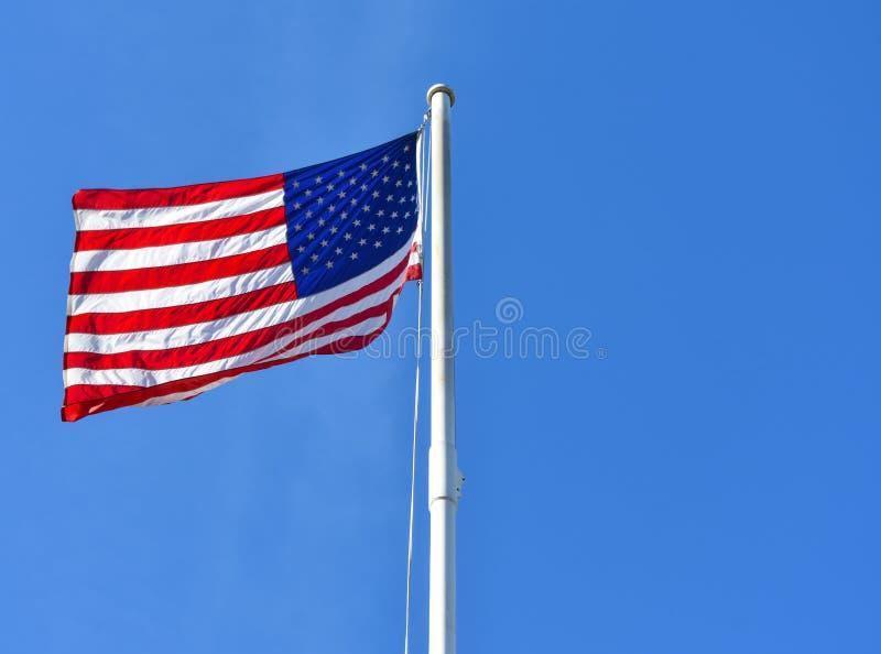 美好的太阳聚焦亮光通过美利坚合众国 免版税库存照片