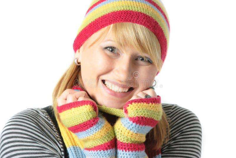 美好的女孩冬天 免版税库存图片